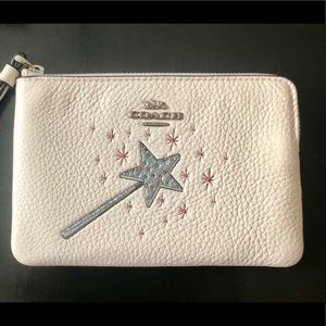Coach NEW Wizard of Oz Wand white wristlet NWT